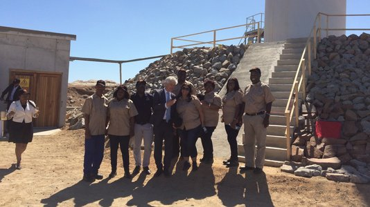Inauguration of the OMBEPO Franco-Namibian wind farm