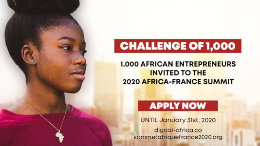 African entrepreneurs: take part in the Challenge of 1000 at the (...)