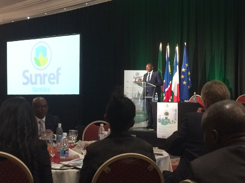Pohamba Shifeta, Minister of Environment and Tourism, also gave a speech on the SUNREF project.
